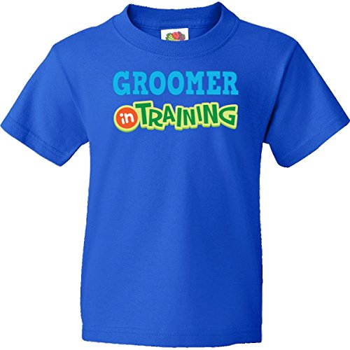 Inktastic Big Boys' Groomer in Training Youth T-Shirts Youth Small Royal Blue