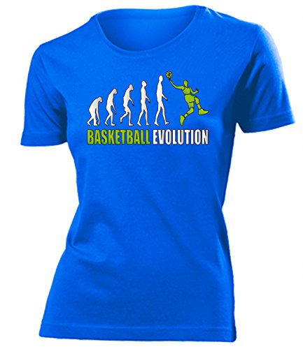 Sport - BASKETBALL EVOLUTION - mujer camiseta Tamaño S to XXL varios colores Azul / verde