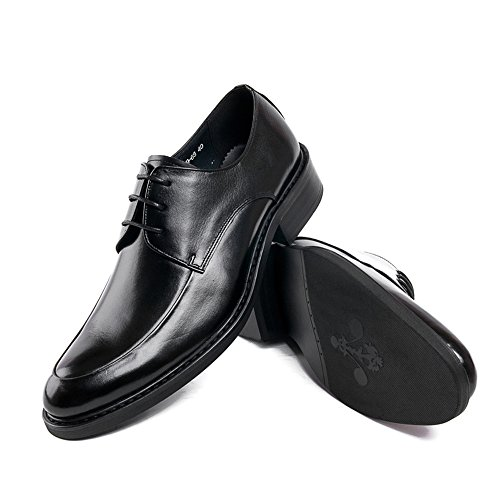 Dress Mens Genuine New Toe Black Oxfords Formal Shoes Zorgen Shoes Wedding Leather Round 1vcW5RS4