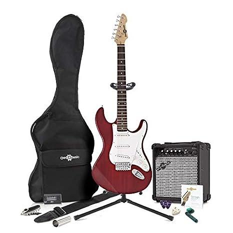 Guitarra Eléctrica LA + Pack Completo - Rojo: Amazon.es: Instrumentos musicales