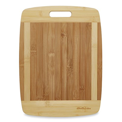 Kitchen Active 13x10 Inch Bamboo Cutting Board with One Handed Handle