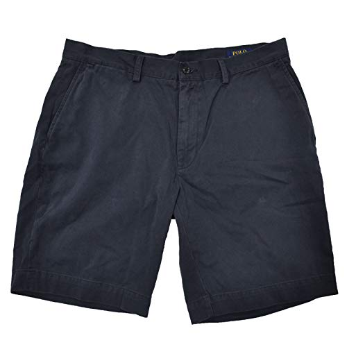 Polo Ralph Lauren Mens Chino Flat Front Shorts (30, Navy)