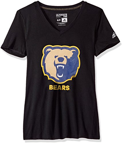 Adidas Morgan State Bears - adidas NCAA Morgan State Bears Adult Women Lined Logo S/Ultimate V Tee, X-Large, Black