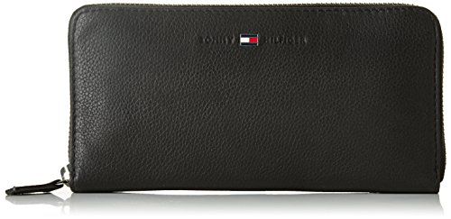 TOMMY HILFIGER ACCESSORI Damen Mappe Basic Leather Large Z/A Wallet , schwarz, größe OS
