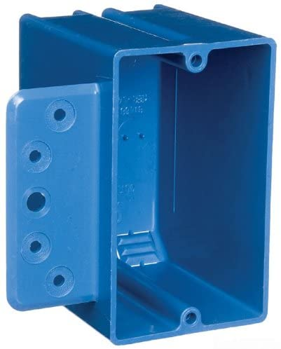Carlon B122A-UPC Switch//Outlet Box New Work Blue 3-3//4-Inch Length by 2-1//4-Inch Width by 3-1//2-Inch Depth 1 Gang