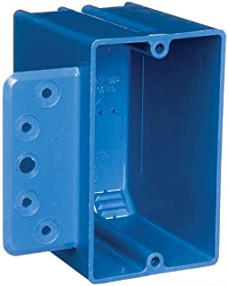 4 Gang Black Thomas /& Betts Carlon 460-SB Outlet Box 3-3//4-Inch Length by 7-9//16-Inch Width by 2-3//4-Inch Depth New Work