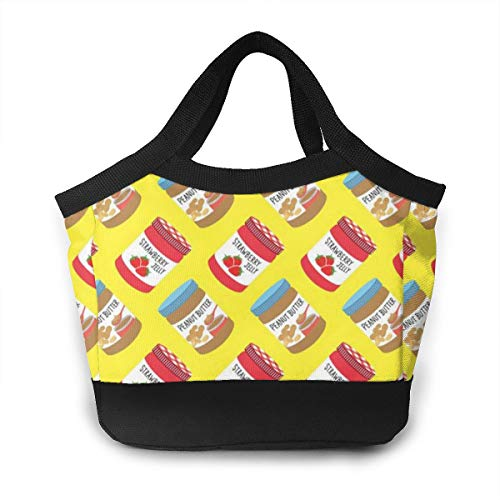 Gift Tote Peanut Butter - Lunch Bag Tote Bag Strawberry