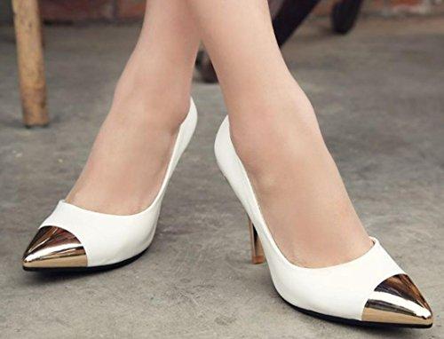 YCMDM Scarpe a punta High-Heeled DONNA sceglie i pattini d'oro , white , 100W