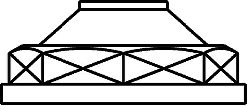 OV /Überstr/ömkappe 2 roh Temperguss