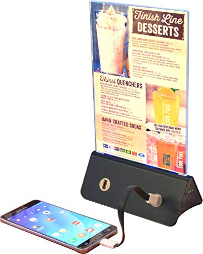 Menu Holder / Photo Frame / Advertising Display / Portable USB Phone Charger Power Bank