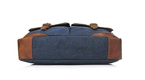 Bolsos de hombres Xinmaoyuan hombres 'S oficial Bolso retro artesanales Multi - Ocio Bolsa Bandolera Bandolera funcional lienzo,azul Blue