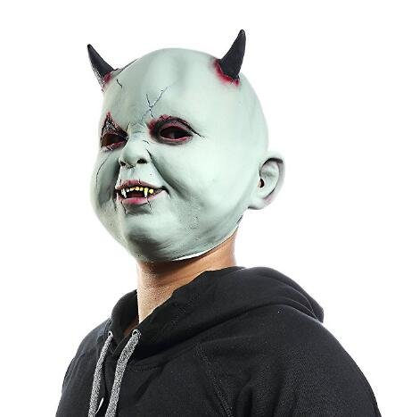 Party City Costumes For Babies (Scary Zombie Dolls Mask,Halloween Mask Devil Demon Wizard,Halloween Costume Party Horror Baby Latex Mask Scary Mask)