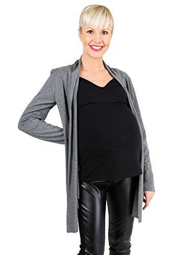 Be! Mama - Chaqueta de maternidad para mujer/maternidad Gris-negro