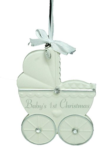 2017 babies first christmas ornament personalized baby ornament 2017 babies first christmas ornament personalized baby ornament ivory carriage with gift box negle Image collections