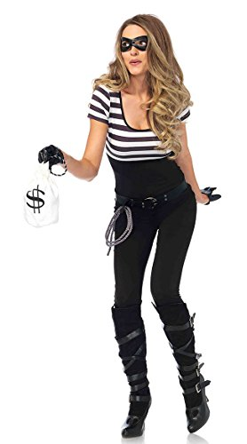 Halloween Robber Costumes (Bank Robbin Bandit Adult Costume - Small)
