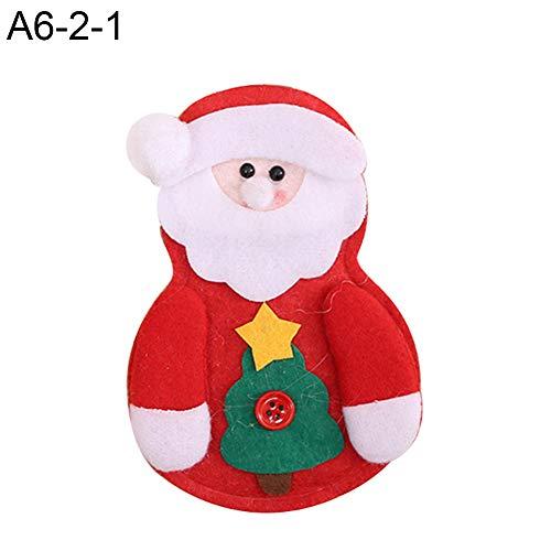 CHoppyWAVE Cutlery Pouch, Santa Claus Pattern Cutlery Holder Utensil Bag Fork Knife Pocket Xmas Decoration - A6-2-1 Tree Santa Claus by CHoppyWAVE (Image #1)