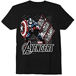 Epic Threads Boys Avengers Glow in The Dark Graphic T-Shirt deepblack L - Big Kids (8-20)