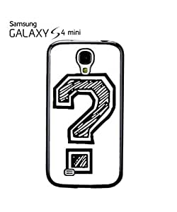 Question Mark Geek Nerd Mobile Cell Phone Case Samsung Galaxy S4 Mini Black