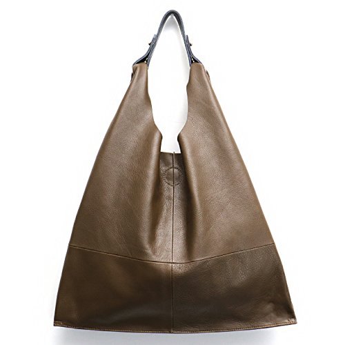 e47acbc5adb3 Women s Handbag STEPHIECATHY Genuine Leather Slouch Hobo Shoulder Bag Large  Casual Handmade Tote Vintage Snap Shopping