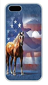 For HTC One M7 Phone Case Cover Wild Star Flag Horse PC Hard Plastic For HTC One M7 Phone Case Cover Whtie