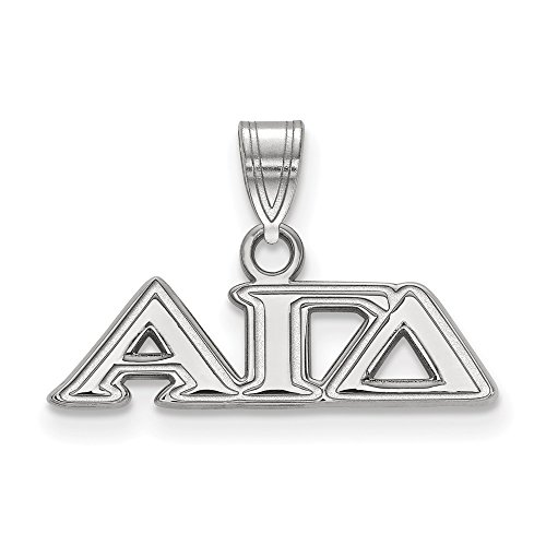 925 Sterling Silver Officially Licensed Alpha Gamma Delta Small Pendant (13.25 mm x 21 mm)