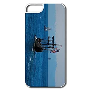 IPhone 5/5S Cover, Homeward Bound Boat Ship White Protector For IPhone 5S