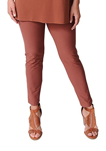 Eileen Fisher Russet Washable Stretch Crepe Slim Ankle Pant (L) ()