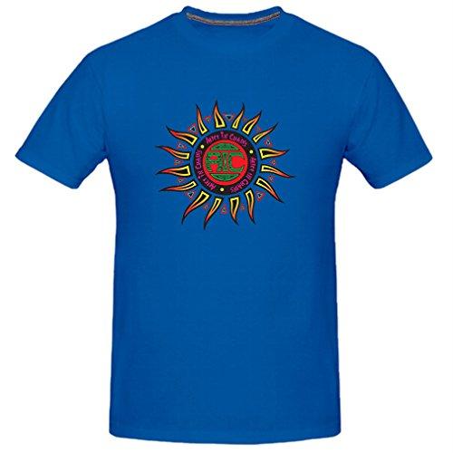 Black-Cosmos Men's Rock T-shirt (Blue (Alice In Chains Halloween Shirt)
