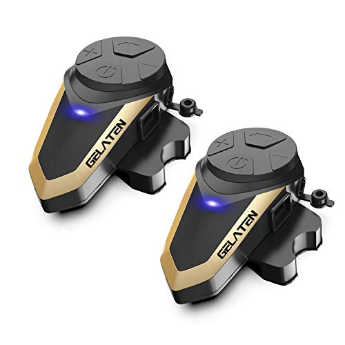 - Gelaten Motorcycle Bluetooth Helmet Headset BT-S3 1000M Wireless Interphone Helmet Communication Systems for 2 or 3 Riders (FM Radio/Handsfree/Range-1000M)&2 Pack