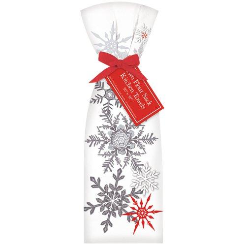 Grey Snowflakes Towel Set