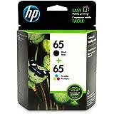 HP 65 Black & Tri-color Ink Cartridges, 2 Cartridges (N9K01AN, N9K02AN) for HP DeskJet 2624 2652 2655 3722 3752 3755 3758