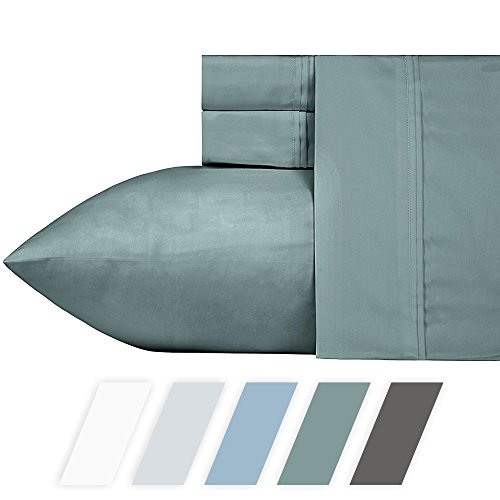 700-Thread-Count 100% Cotton Blend Sheet Modern Sage Queen S