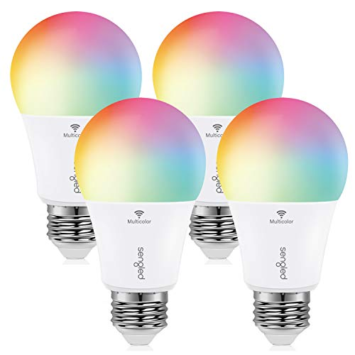 Sengled Smart Bulb, Color Changing Smart Bulbs Work with Alexa & Google Home, WiFi Light Bulbs No Hub Required A19 RGB Multicolor LED Light Bulb 60W Equivalent 800LM, 4 Pack