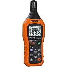 Protmex MS6508 Digital Temperature Humidity Meter Digital Psychrometer Thermometer Hygrometer Humidity Monitor with Temperature Gauge Humidity Meter with Dew Point and Wet Bulb Temperature Hygrometer