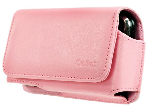 Cellet Horizontal Noble Case with Removable Swivel & Spring Clip for Palm Treo 680 - Pink