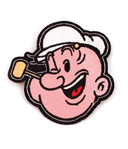Popeye The Sailor Man Head Iron-On Patch]()