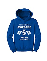 TeeStars - This Is What an Awesome 5 Year Old Looks Like Funny Toddler Hoodie