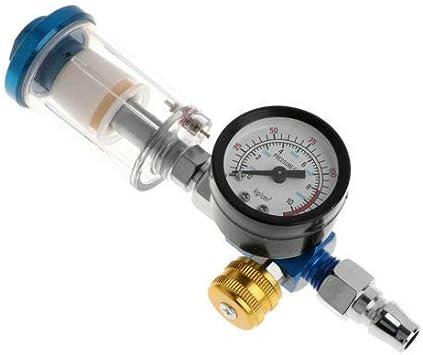 Standard 1 4 Draht Luftdruckregler Manometer Online Öl Wasserabscheider Filter Für Kfz Lackierpistole Manometer Luftregler Lackierpistole Auto