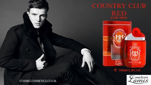 Country Club Red Deluxe 3.3oz. EDT Men Spray by Creation Lamis by Creation ()