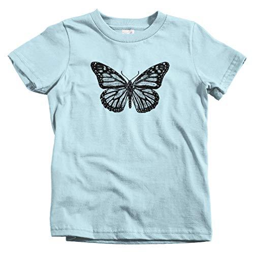 Smash Transit Kids Monarch Butterfly T-Shirt - Light Blue, Toddler 4T