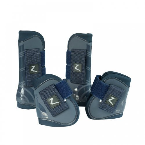 Horze ProTec Horse Boot Set Size Pony color Black by HORZE