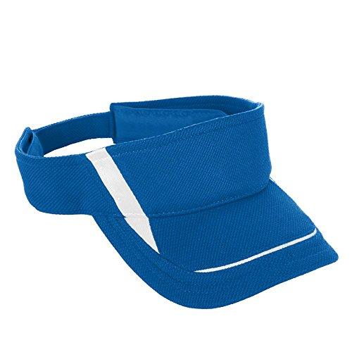 (Augusta Sportswear Kids' Adjustable Wicking MESH Edge Visor OS Royal/White)