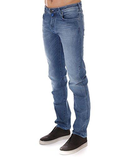 Jacob Cohen Homme PW688516003 Bleu Claire Coton Jeans