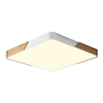 Plaza 24W LED Lámpara de techo,Madera hierro y acrílico LED ...