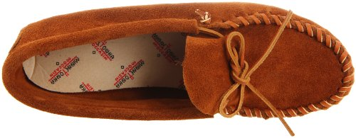 Minnetonka Men's Leather Laced Softsole Moccasin,Brown,13 M US