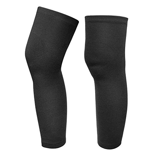 g Knee Brace Sleeves for Sports, Running, Basketball, Calf/Knee Pain Relief, Improve Blood Circulation and Injury Recovery - Best Knee Calf Support for Men&Women (2 Piece) ()