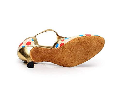 modern eu35 À Latine Salsa jazz Uk4 our36 Dheeled7 Pour chacha Dheeled7 Danse coloré 5cm Shoes 5cm Yingsssq Femmes Sandales Talons Taille tango samba Hauts Rqx8w865