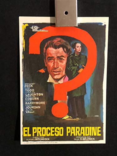 - Paradine Case 1946 Original Vintage Spanish Herald Program Movie Poster, Alfred Hitchcock, Gregory Peck, Charles Laughton, Ethel Barrymore