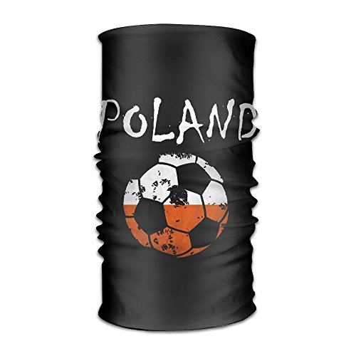 Poland Flag Football 2018 Headwear Bandanas Headscarf Helmet Liner Head Wrap Scarf by WOOD-RAIN