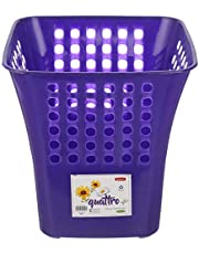 سلة مهملات بلاستيك كواترو من وينر بلاست، 24 × 25 سم - ازرق